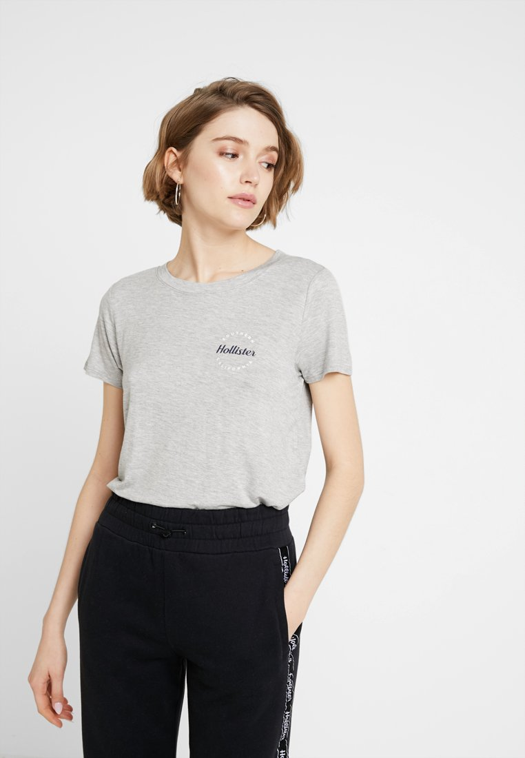 Hollister Co. - EASY FIT PRINTED LOGO TEE - Jednoduché triko - grey