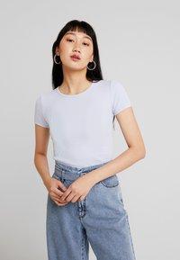 Hollister Co. - CROP WAFFLE BABY TEE - T-shirt imprimé - xenon blue - 0