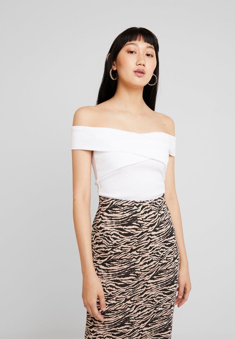 Hollister Co. - CROSS OVER MARILYN - T-Shirt print - white