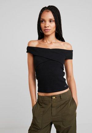 CROSS OVER MARILYN - Camiseta estampada - black
