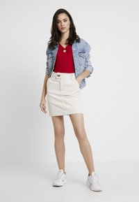Hollister Co. - SQUARE NECK - Printtipaita - red - 1