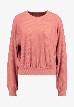 LONG SLEEVE BOYFRIEND  - Long sleeved top - dark pink