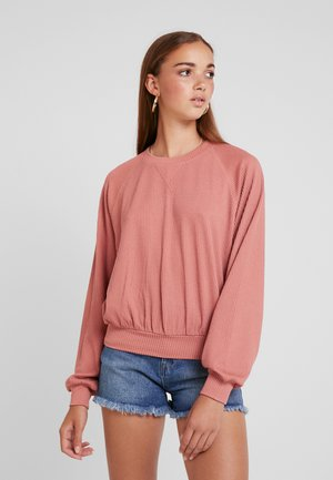 LONG SLEEVE BOYFRIEND  - Long sleeved top - dark pink