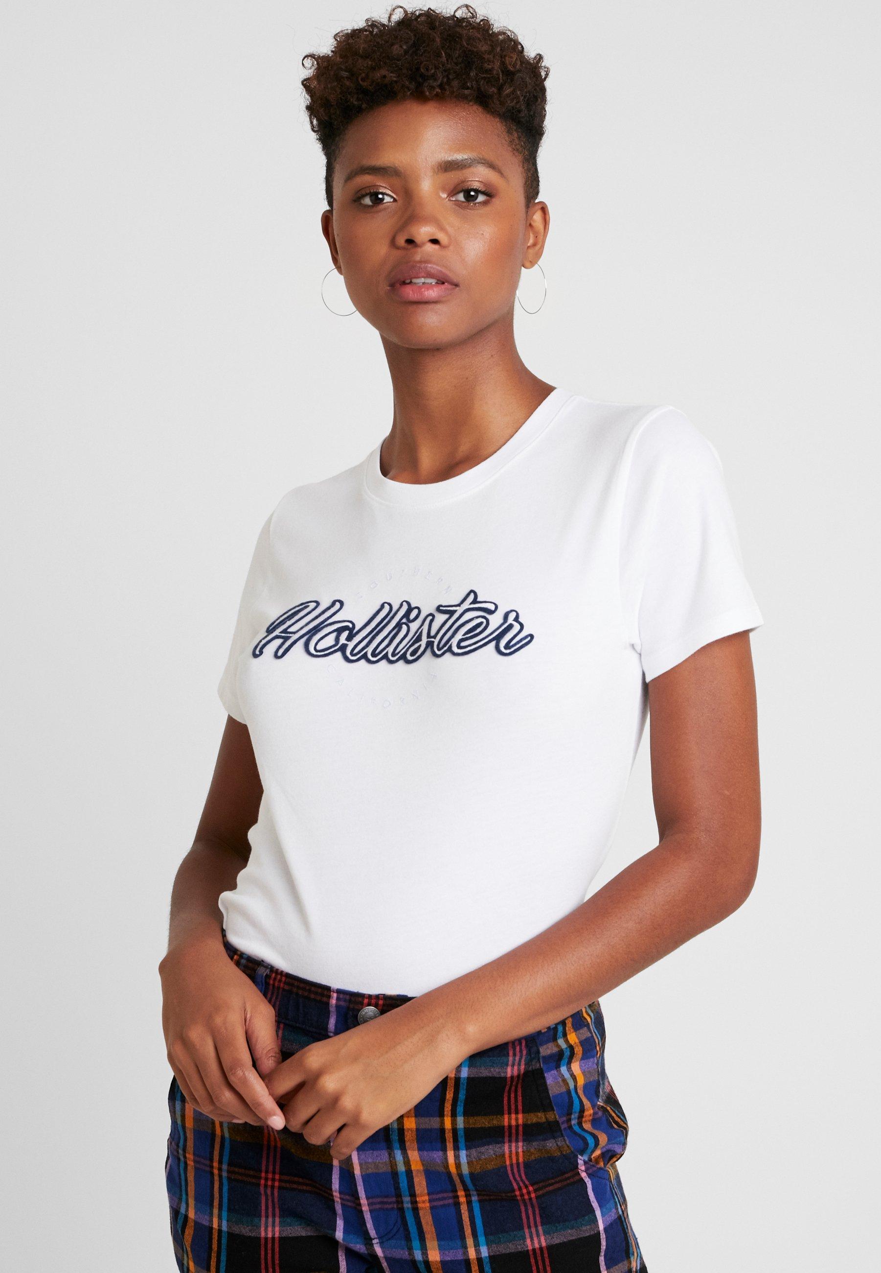 Logo White shirt Hollister TeeT CoCore Imprimé XikOZwPTul