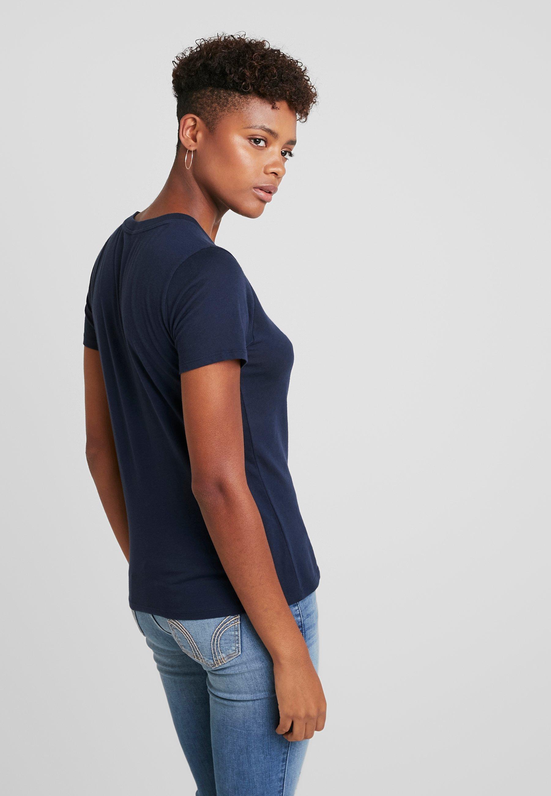 TeeT Hollister Logo CoCore shirt Navy Imprimé kZiTOPXu