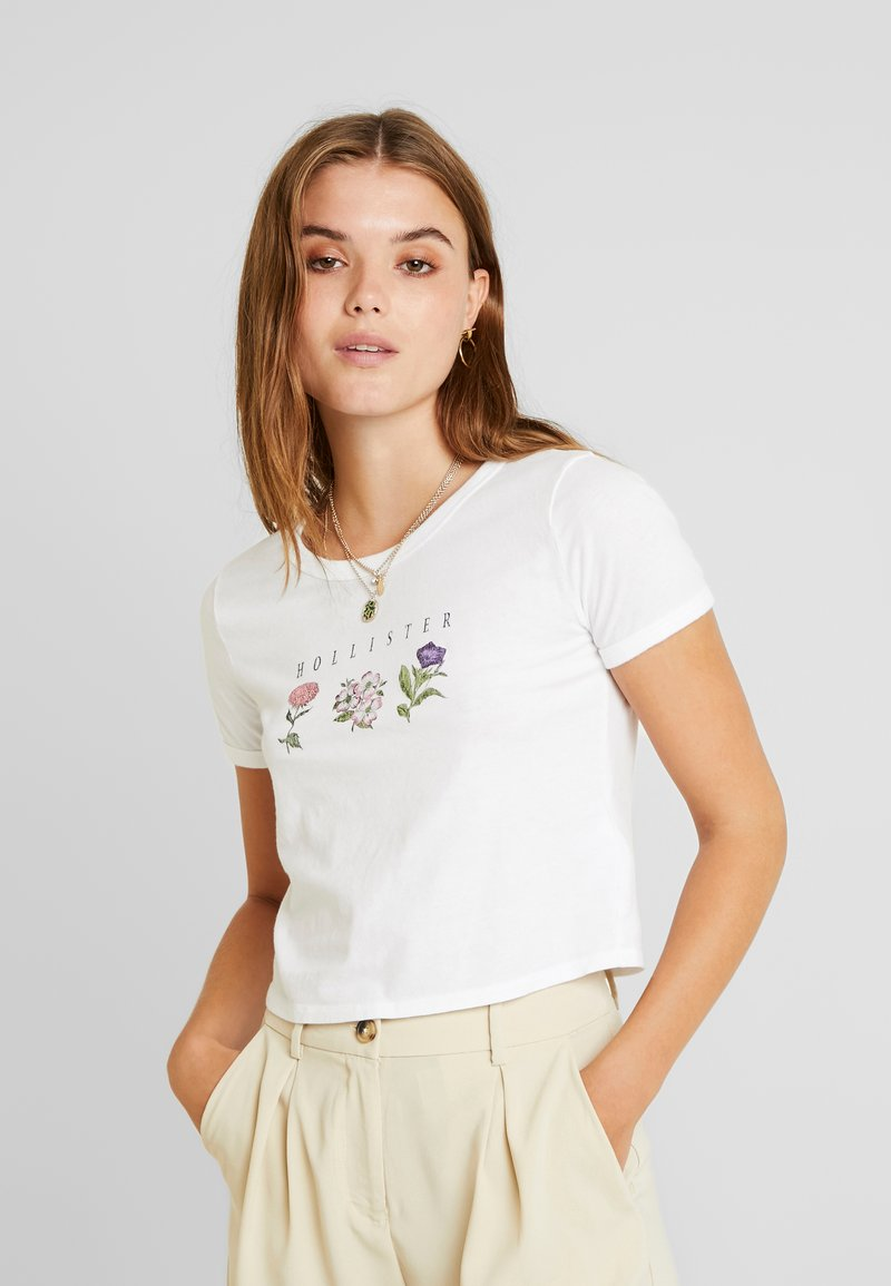Hollister Co. - BOTANICAL TEE - T-Shirt print - white