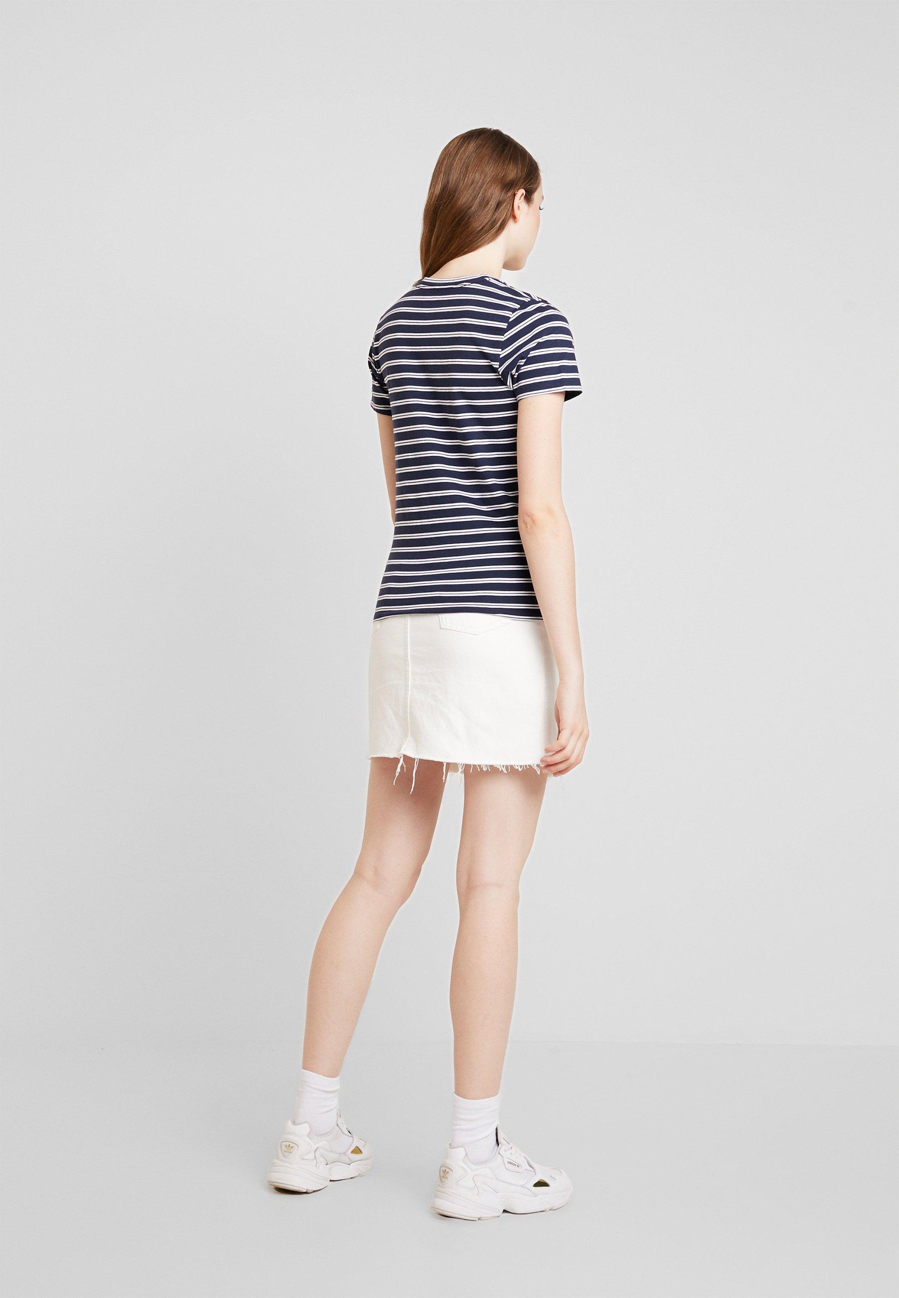 Stampa Stripe Hollister Logo TeeT Navy shirt Con CoMeet Greet BdWrxQCoe