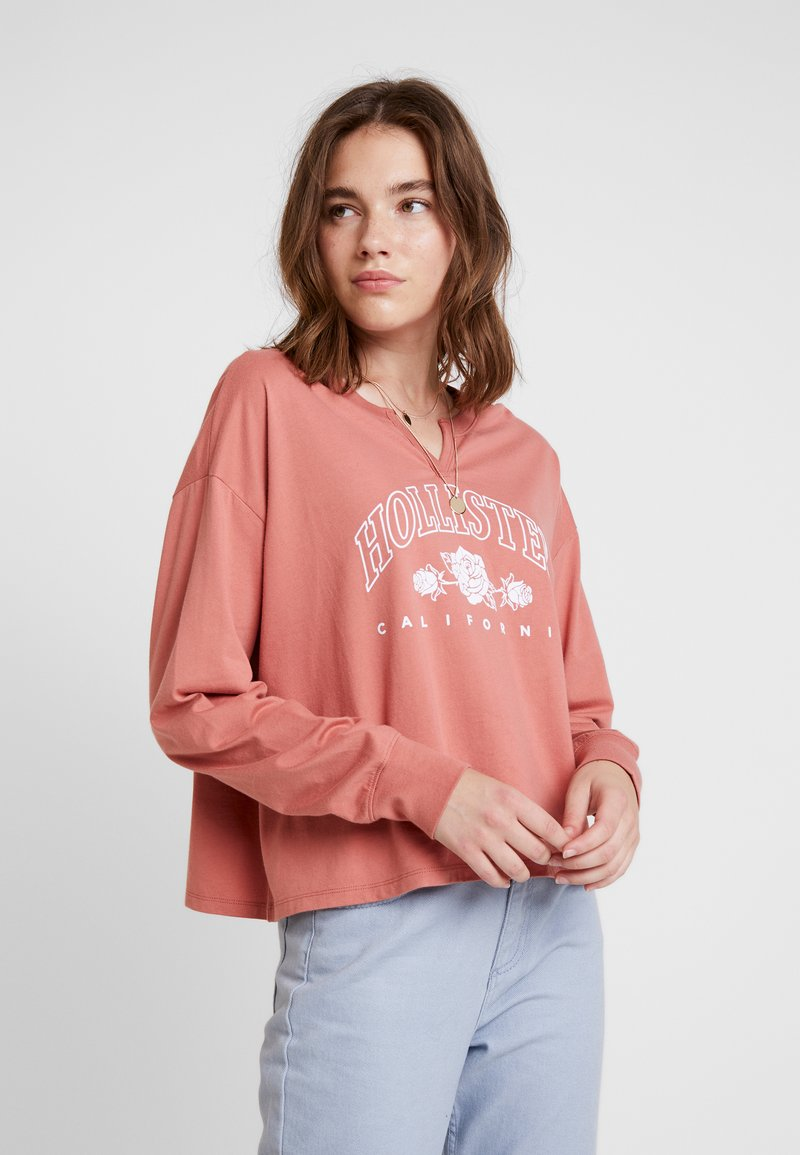 Hollister Co. - LONG SLEEVE DESTINATION - T-shirt à manches longues - pink