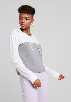 LONG SLEEVE HOODIE TEE - Långärmad tröja - grey