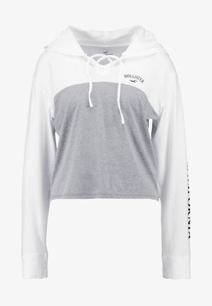 LONG SLEEVE HOODIE TEE - Camiseta de manga larga - grey