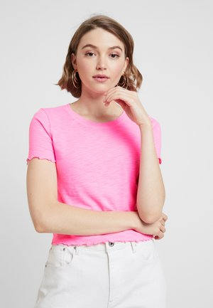 LETTUCE HEM BABY TEE - T-shirts - bright pink