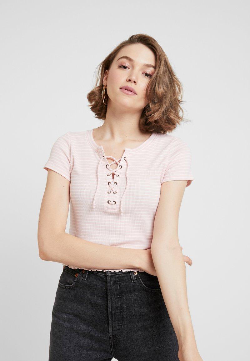 Hollister Co. - LETTUCE TEE - Print T-shirt - light pink