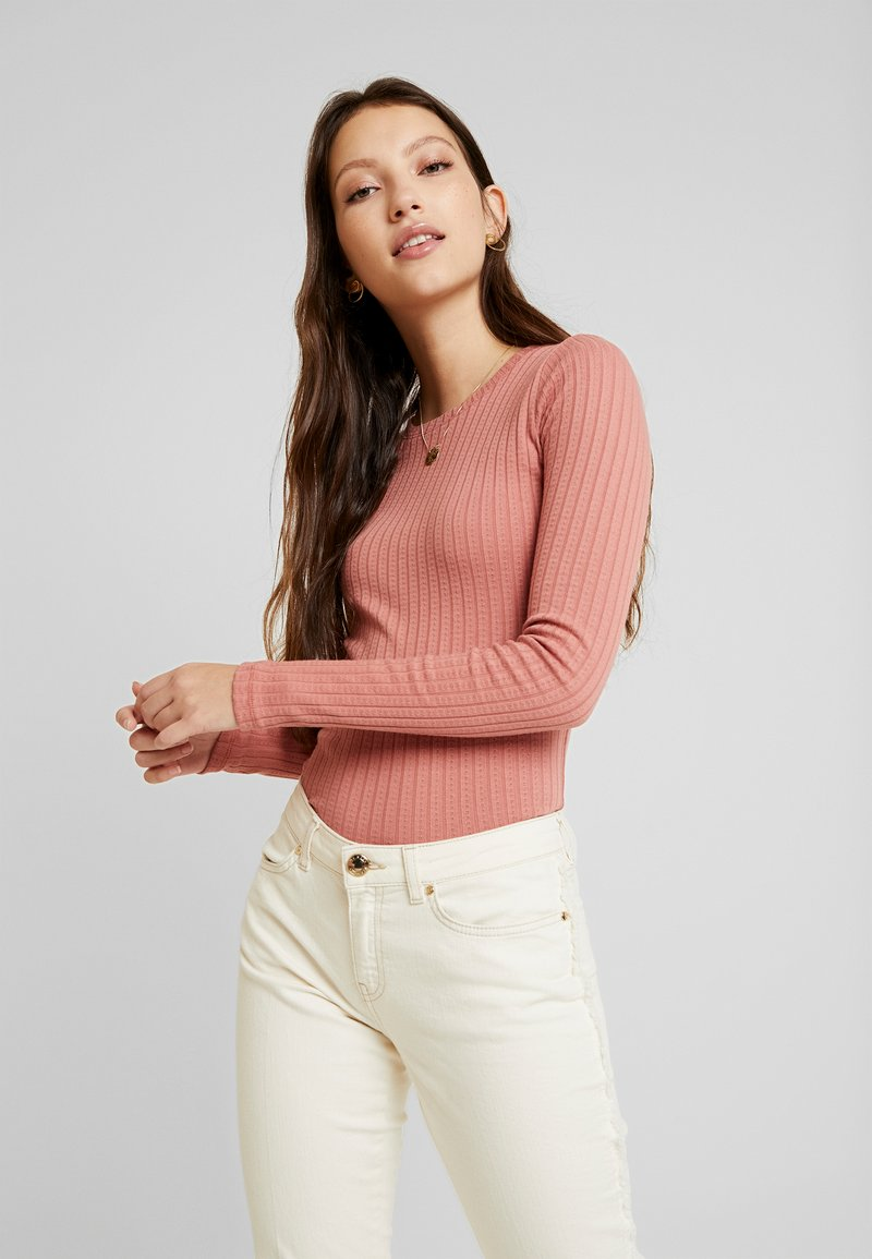 Hollister Co. - BASIC TEXTURE - Long sleeved top - pink