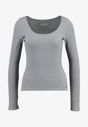 LONG SLEEVE SLIM WAFFLE CREW - Camiseta de manga larga - grey