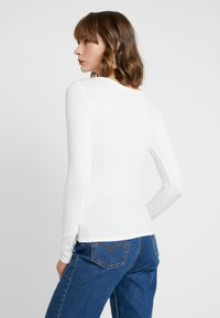 Hollister Co. - LONG SLEEVE BUTTON HENLEY - Topper langermet - white - 2