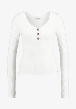 LONG SLEEVE BUTTON HENLEY - Maglietta a manica lunga - white