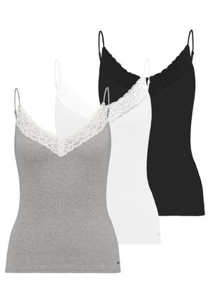 CAMI 3 PACK  - Débardeur - white/black