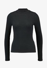 Hollister Co. - SLIM MOCK - T-shirt à manches longues - black - 4