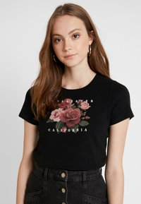 Hollister Co. - TREND ROSE - Printtipaita - black - 0