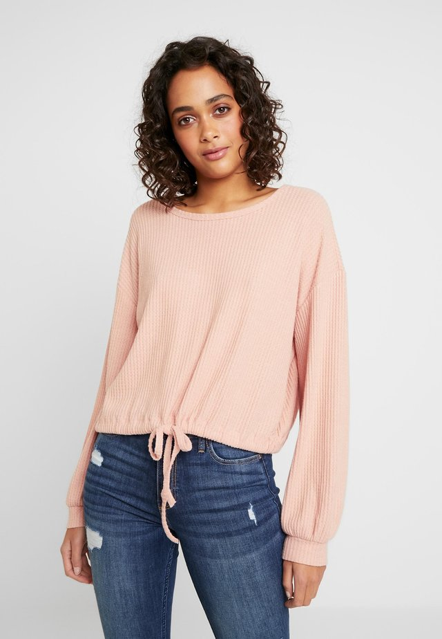 NOTCH NECK BANDED BOTTOM - Jersey de punto - pink