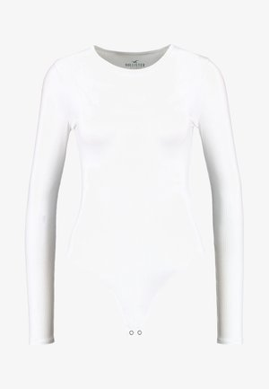 BASIC CREW PICO BODYSUIT - Long sleeved top - white