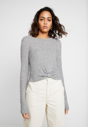 COZY TAB FRONT - Strikkegenser - grey