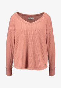 Hollister Co. - SLOUCHY SHOULDER EASY - Svetr - canyuon rose - 3