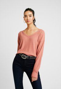 Hollister Co. - SLOUCHY SHOULDER EASY - Svetr - canyuon rose - 0