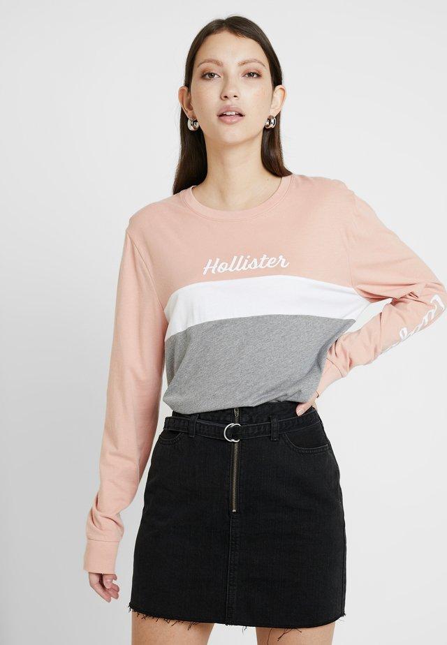 FLOCK CORE - Camiseta de manga larga - pink colorblock