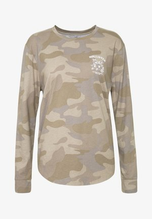PRINT CORE OVERT LOGO - T-shirt à manches longues - olive