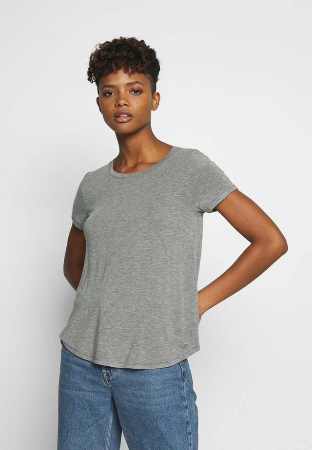 EASY CREW  - T-shirt - bas - grey