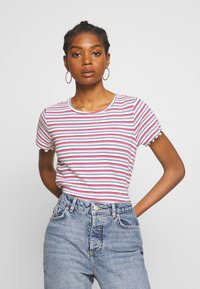 Hollister Co. - BABY TEE  - Print T-shirt - white stripe - 0