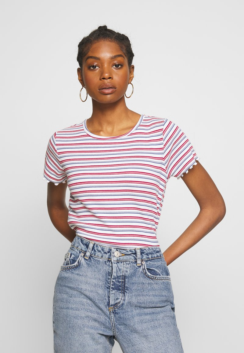 Hollister Co. - BABY TEE  - Print T-shirt - white stripe