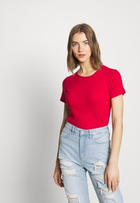 Hollister Co. - CREW FASH 3PK - Camiseta estampada - white/red/xenonblue - 5