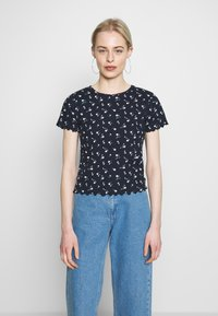Hollister Co. - LETTUCE BABY TEE - T-shirts med print - navy - 0