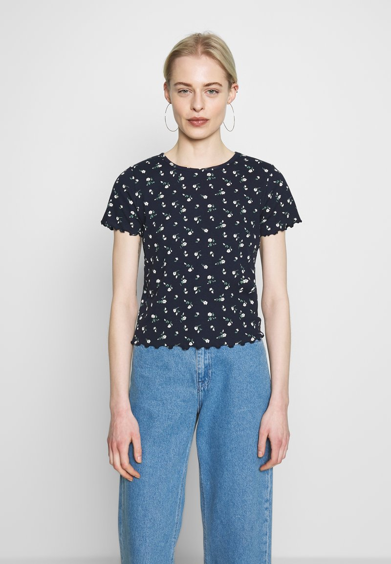 Hollister Co. - LETTUCE BABY TEE - T-shirts med print - navy