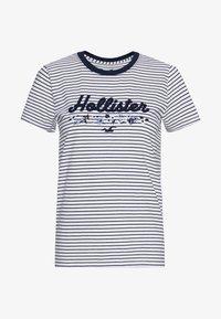 Hollister Co. - Print T-shirt - blue/white - 0