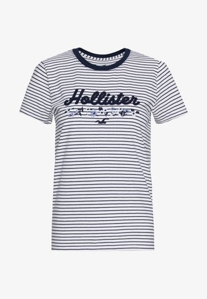 T-shirts med print - blue/white