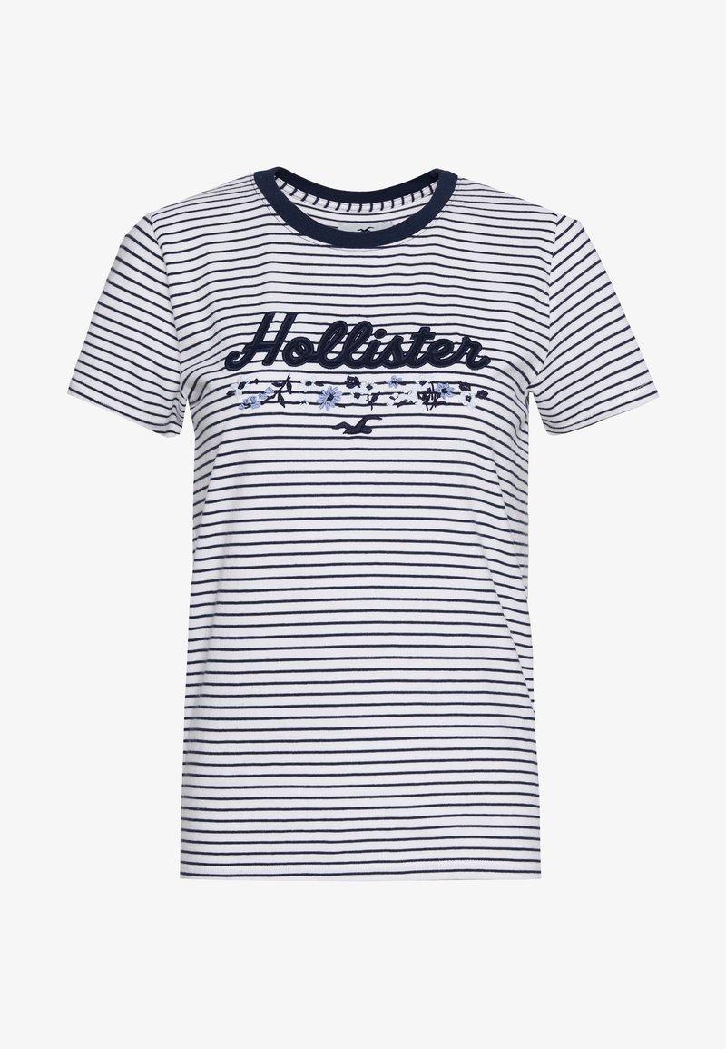 Hollister Co. - Print T-shirt - blue/white