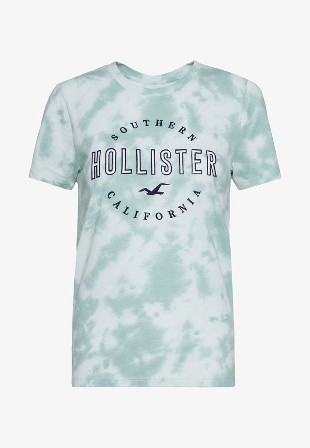 T-shirt med print - mint wash