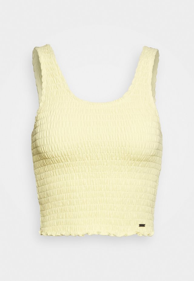 SMOCKED BOY TANK - Linne - yellow