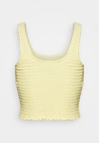 Hollister Co. - SMOCKED BOY TANK - Top - yellow - 1