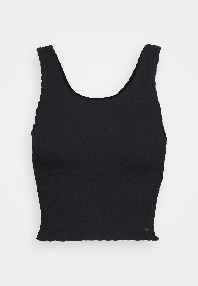 SMOCKED BOY TANK - Linne - black