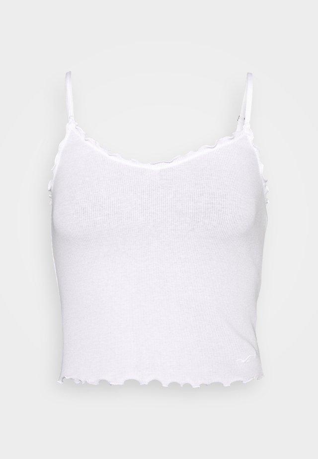 BARE V-NECK LETTUCE CAMI - Linne - white