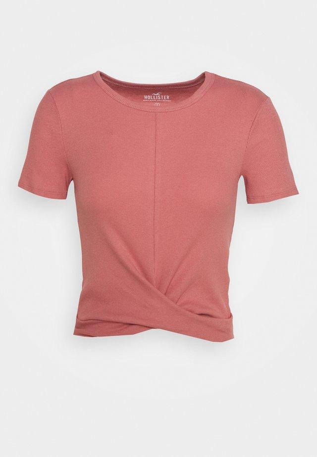 TWIST FRONT - Camiseta básica - dusty rose