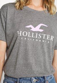 Hollister Co. - TIMELESS LOGO - Print T-shirt - grey - 5