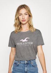 Hollister Co. - TIMELESS LOGO - Print T-shirt - grey - 0