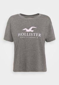 Hollister Co. - TIMELESS LOGO - Print T-shirt - grey - 4