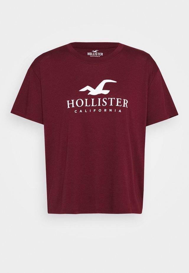 TIMELESS LOGO - T-shirt med print - burgundy