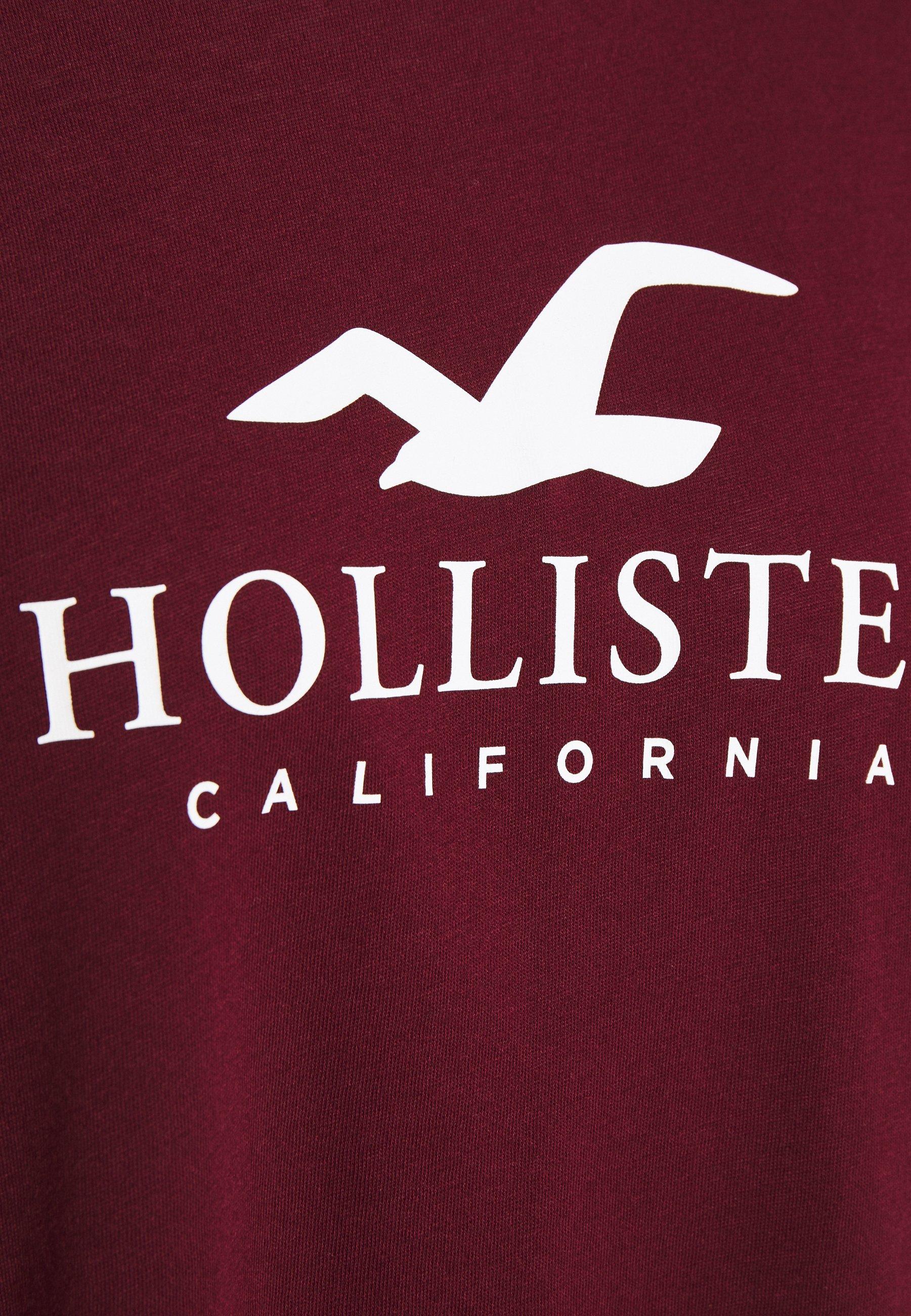 Hollister Co. TIMELESS LOGO T shirt imprimé burgundy
